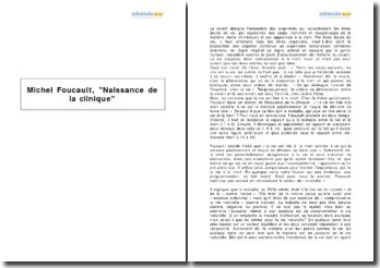 Michel Foucault, Naissance de la clinique