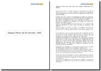 L'Espace Proun de El Lissitzky (1923)