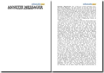 Analyse de l'oeuvre: Articulés-Désarticulés - Annette Messager