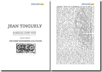 Analyse de l'hommage à New-York de Tinguely