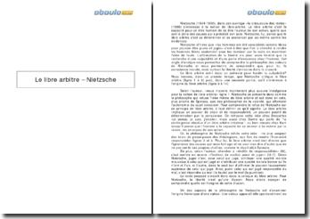 Le libre arbitre - Nietzsche