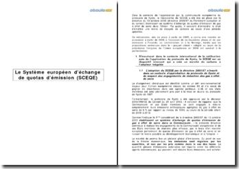Le système européen d'échange de quotas d'émission (SCEQE)