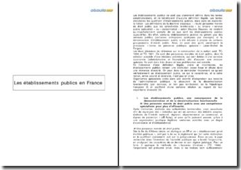 Les établissements publics en France: définition, caractéristiques et avenir