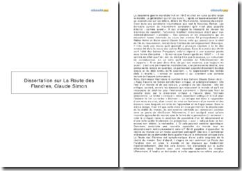 La Route des Flandres - Claude Simon: l'oeuvre de Simon est-elle bien critique?