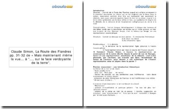 Explication linéaire de La Route des Flandres de Claude Simon: la description en anamorphose du cheval (p.31-32)