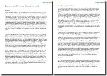 Bossuet et son Discours sur l'histoire universelle