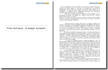 Le budget européen: critiques du fonctionnement