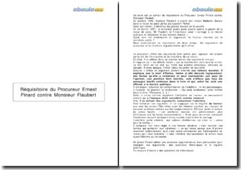 Réquisitoire du procureur Ernest Pinard contre Monsieur Flaubert