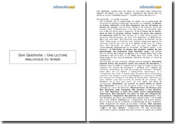 Don Quichotte : une lecture analogique du monde