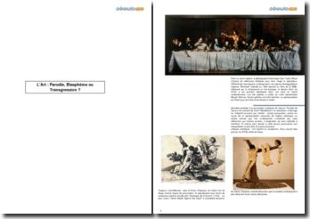 L'Art : parodie, blasphème ou transgression ?