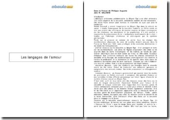 Les langages de l'amour, dans la France de Philippe Auguste - John W. Baldwin