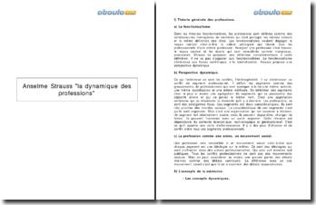 La dynamique des professions - Anselme Strauss