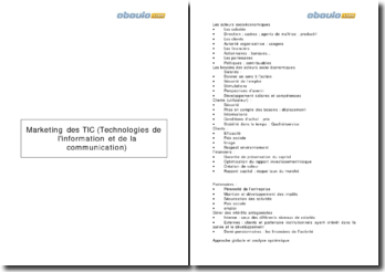 Marketing des TIC (technologies de l'information et de la communication)