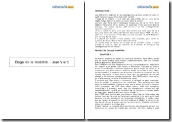 Éloge de la mobilité - Jean Viard