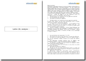 Analyse : Les lettres persanes, Lettre 29 - Montesquieu