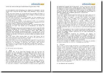 Extrait des lettres écrites par Claude-Antoine-Auguste Blad (1793)
