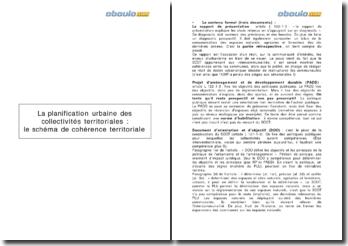 La planification urbaine des collectivités territoriales : le schéma de cohérence territoriale