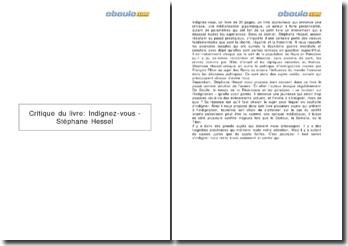 Critique du livre: Indignez-vous - Stéphane Hessel