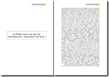 Extrait des Chroniques latines - Jean de Venette: la peste noire