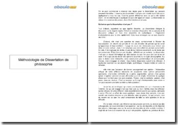 La méthodologie de dissertation de philosophie