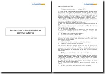 Les sources internationales et communautaires du Droit social