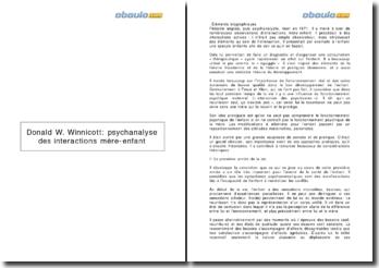 Donald W. Winnicott: psychanalyse des interactions mère-enfant