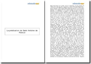 La prédication de Saint Antoine de Padoue
