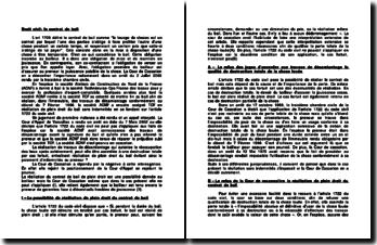 Droit civil: le contrat de bail