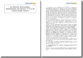 Commentaire de l'article 1114-3 de l'avant-projet Catala: la violence économique