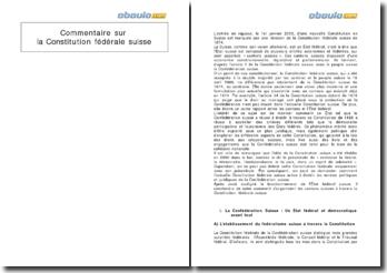 Commentaire sur la Constitution fédérale suisse