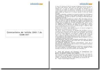 Commentaire de l'article 1844-1 du Code civil