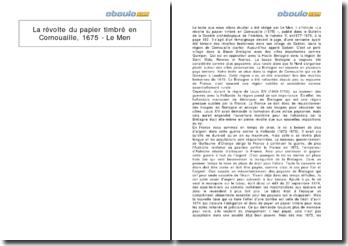 La révolte du papier timbré en Cornouaille, 1675 - Le Men