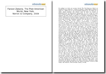 The Post-American World, New York, Norton & Company - Fareed Zakaria