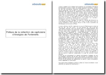 La préface de la collection de capitulaire d'Anségise de Fontenelle