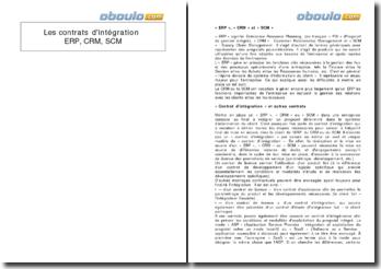 Les contrats d'intégration ERP, CRM, SCM
