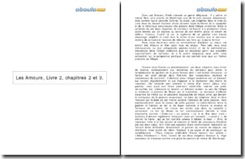 Les Amours, Livre 2, chapitres 2 et 3 - Ovide