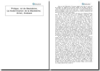 Anabase - Arrien: Philippe, roi de Macédoine et la modernisation de la Macédoine