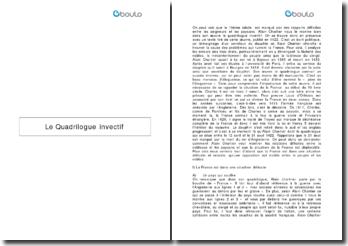 Le quadrilogue invectif - Alain Chartier
