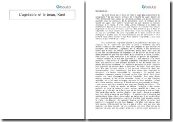 Critique de la faculté de juger, paragraphe 7 - Kant : l'agréable et le beau