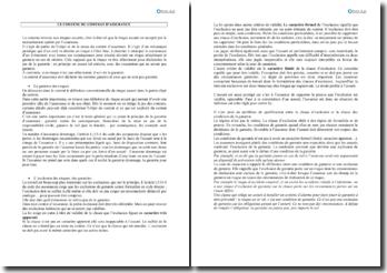 Le contenu du contrat d'assurance