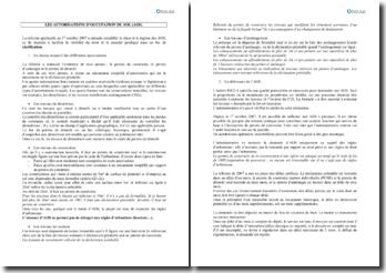 Les autorisations d'occupation du sol (AOS)