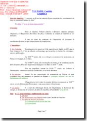 Candide, Chapitre 6, Commentaire composé