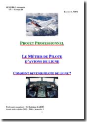 Le métier de pilote de ligne
