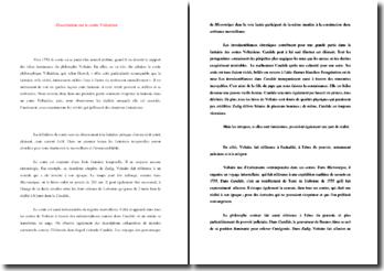 Dissertation sur le conte voltairien