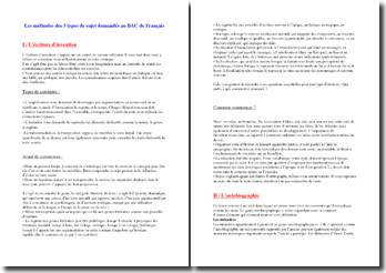 Méthodologie pour les sujets du bac de français
