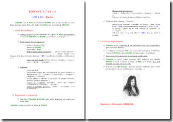 Racine, Bérénice, Acte I scène 4, v.229-244