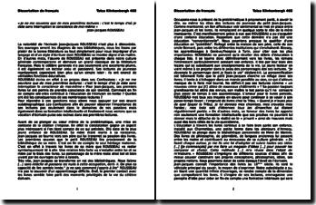 Dissertation sur les premières lectures de Rousseau