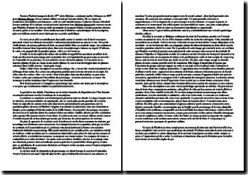 Flaubert, Madame Bovary, La description de Catherine Leroux