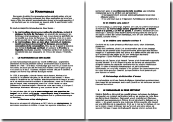 Le Marivaudage, écriture théâtrale de Marivaux