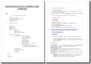 Méthodologie du commentaire composé
